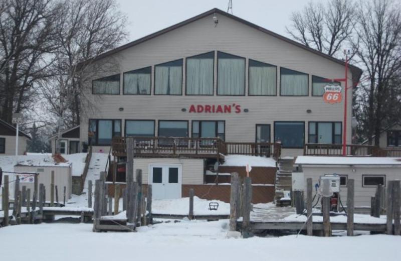 Winter view of Adrian's Resort.
