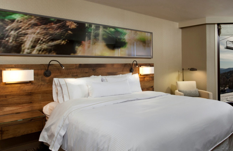 Guest bedroom at The Westin Snowmass Resort.
