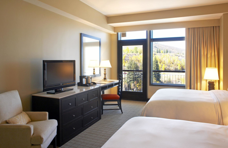 Guest bedroom at The Westin Riverfront Resort & Spa.