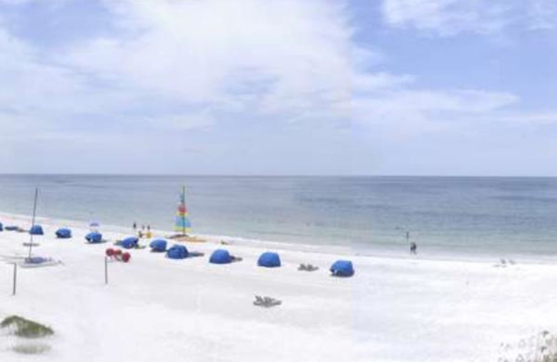 Sandy beaches at  Vistas On the Gulf.