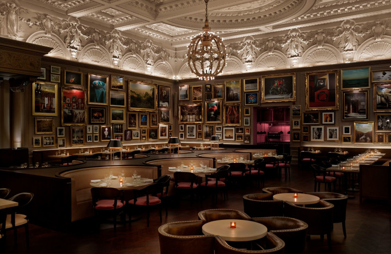 Dining at The London Edition.