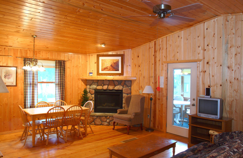 Lodge interior at Pine Terrace Resort.