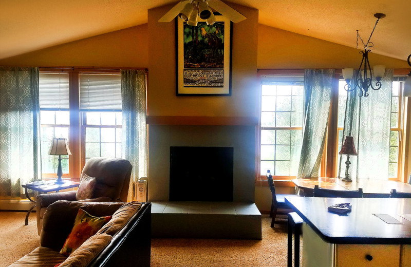 Guest living room at Skyport Lodge.