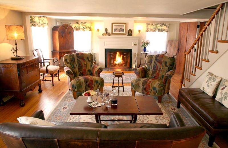 Living room at Morning Glory Inn.