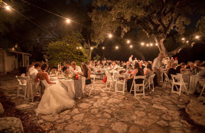 Wedding reception at Joshua Creek Ranch.