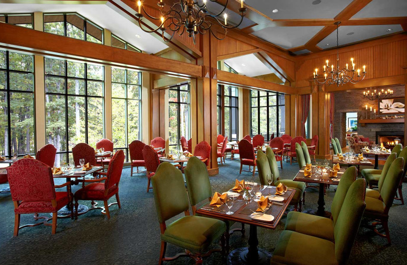 Dining at Woodloch Resort.