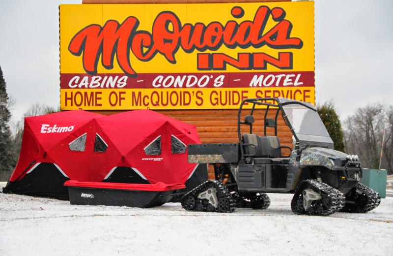 Winter at McQuoid's Inn & Event Center.