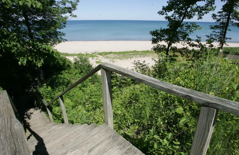Beach near Lake Michigan Reunion & Retreat.