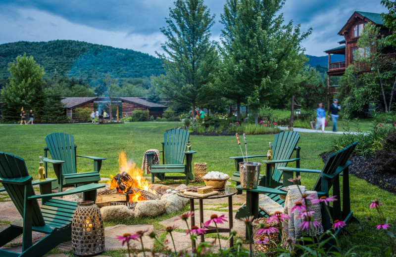 Fire pit at The Whiteface Lodge.