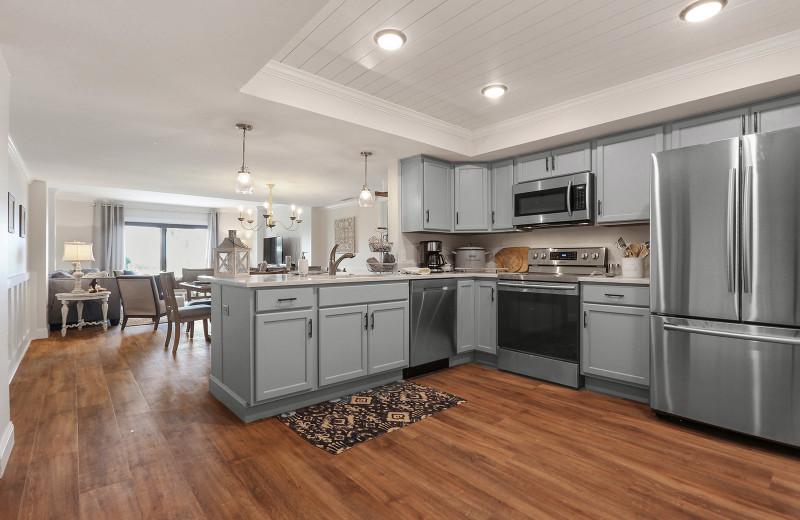 Rental kitchen at Seashore Vacations Inc.