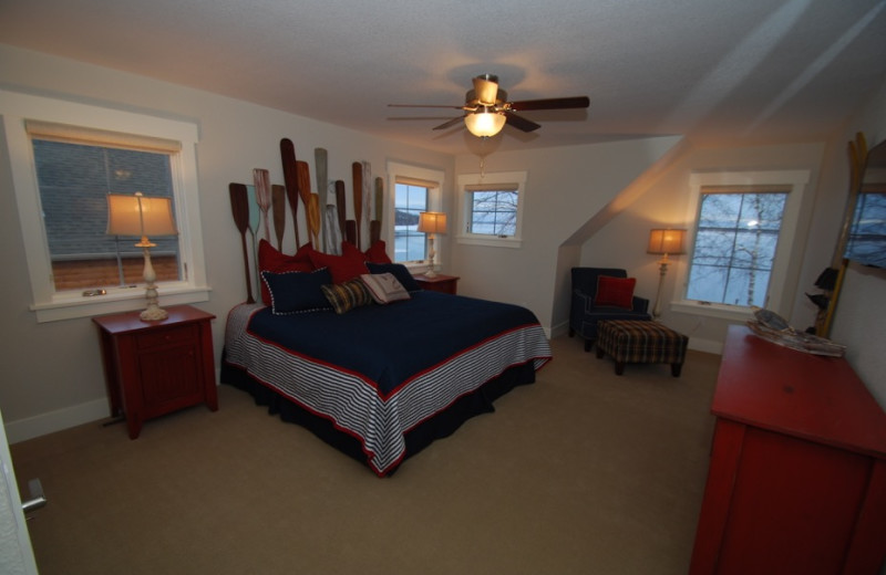 Guest room at Quarterdeck Resort.