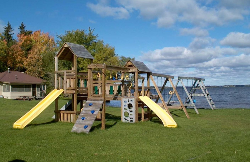 Kid's playground at Pine Aire Resort.
