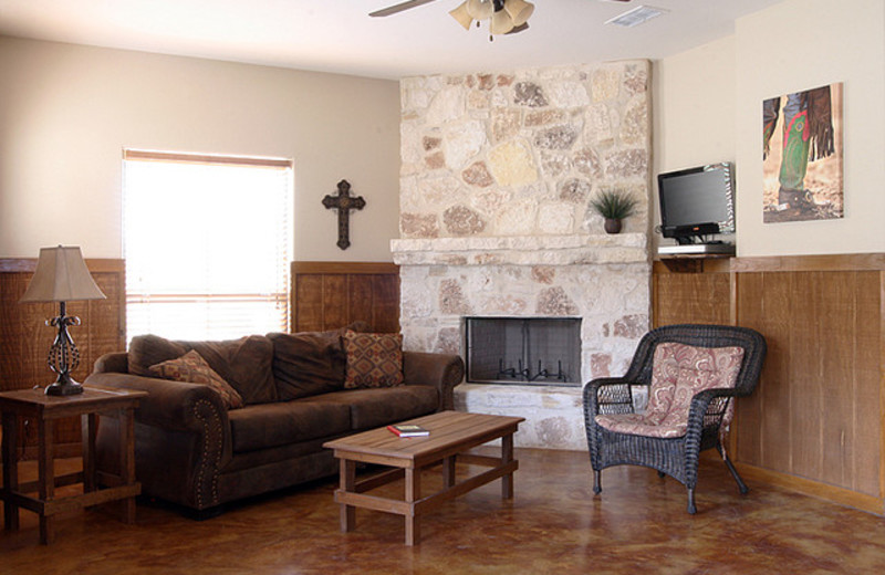 Condo living room at Neal's Lodges.