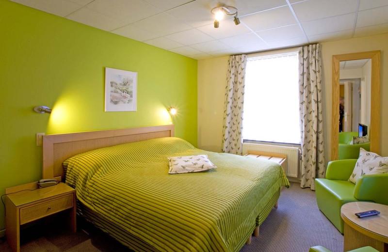 Guest room at Moulin de Daverdisse.