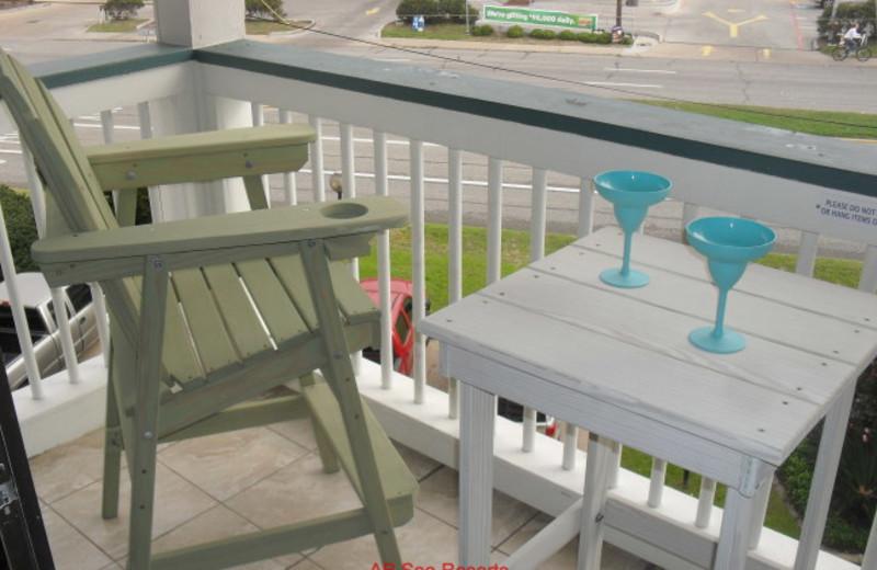 Rental balcony at A B Sea Resorts.