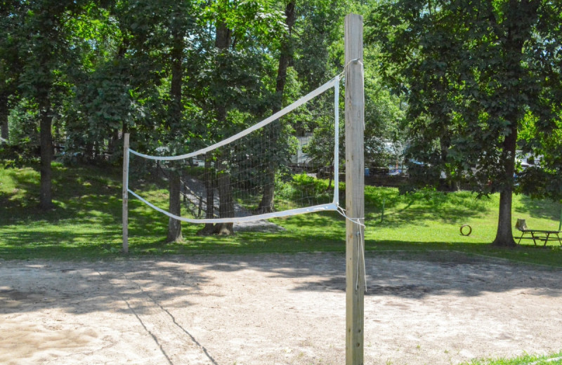 Volleyball court at Yogi at Shangri-La - Jellystone Park.