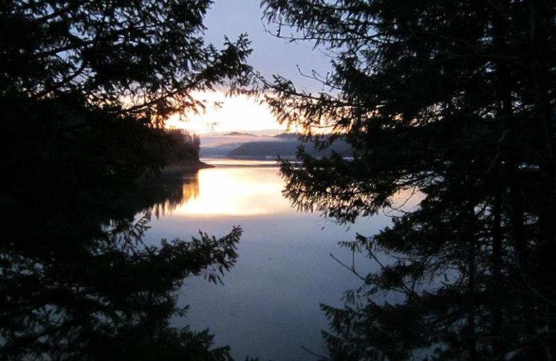 View of the lake at Trinity Lake.