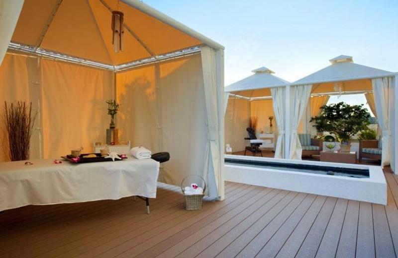 Spa cabanas at Hilton Fort Lauderdale Beach Resort.
