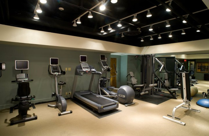 Fitness room at Vail's Mountain Haus.