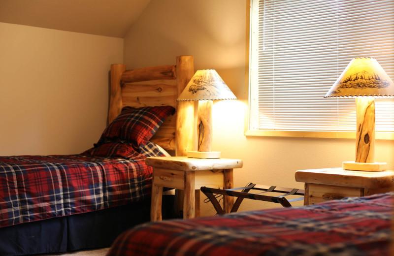 Guest room at Screamin' Reels Lodge.