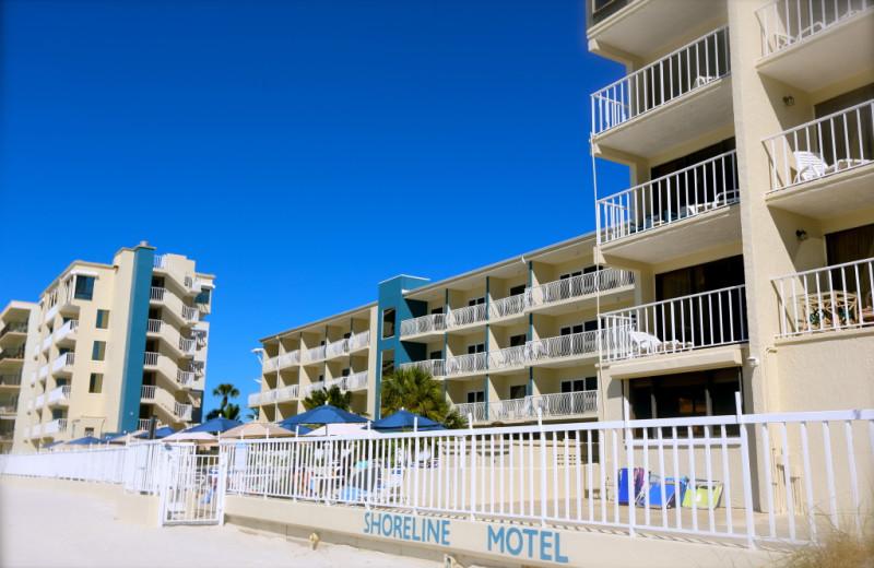 Exterior view of Shoreline Island Resort.