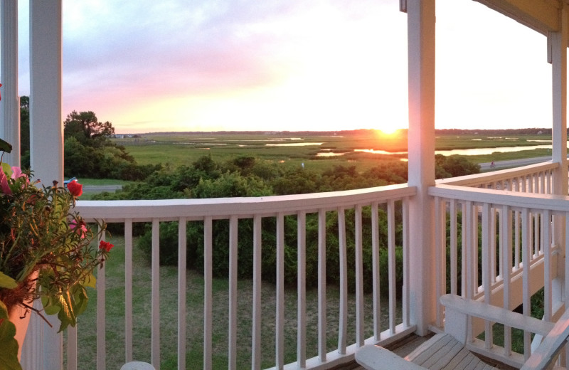 Balcony view at The Sunset Inn.