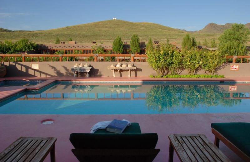 Outdoor pool at Cibolo Creek Ranch.
