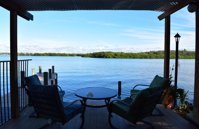 Deck view at Turtle Beach Resort.