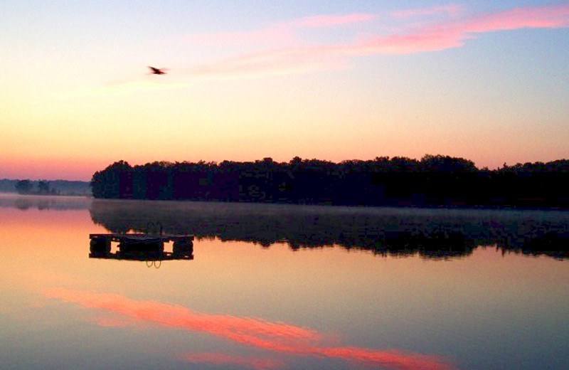 Lake view at Northland Lodge.