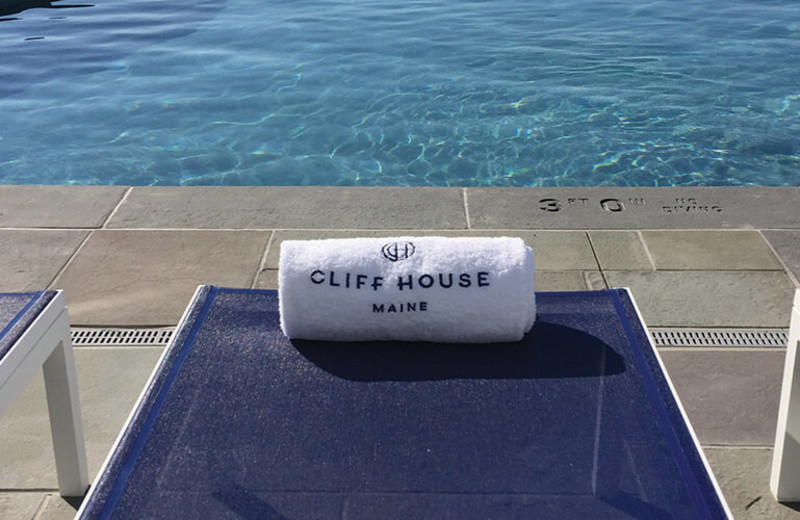 Outdoor pool at Cliff House Maine.