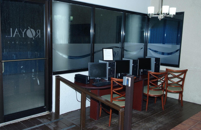 Computer Station at Club Cala de Palmas
