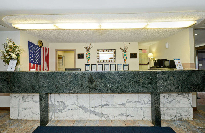 Check in desk at America's Best Value Inn - Benton Harbor.