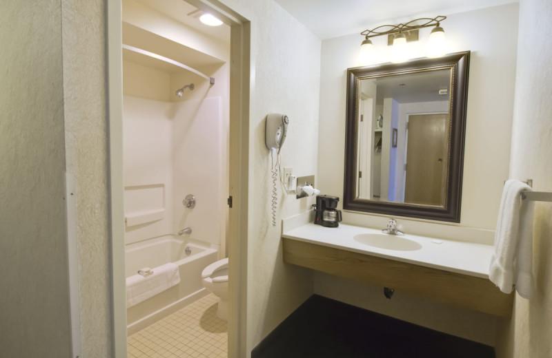 Guest bathroom at Bavarian Inn of Frankenmuth.