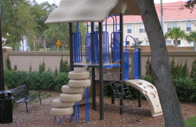Outdoor playground at Elite Vacation Homes.