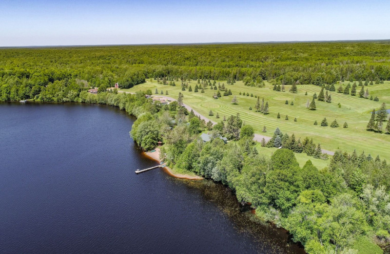 Aerial view of Legacy Lodge.