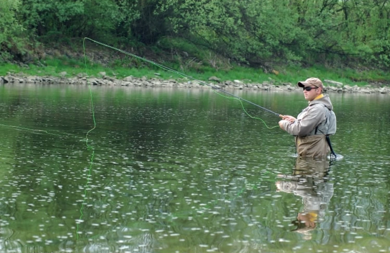 Fly fishing at Bear Paw Adventure.