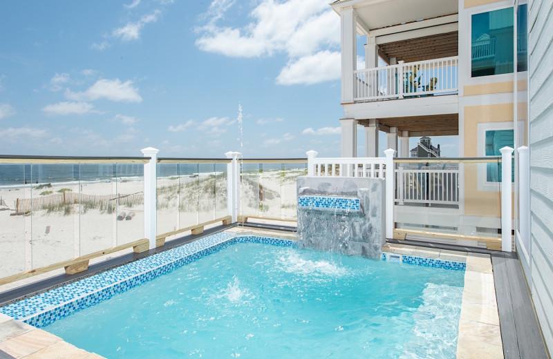 Rental pool at Sunset Properties.