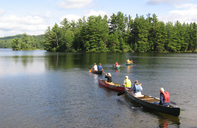 Canoeing at Quimby Country Lodge