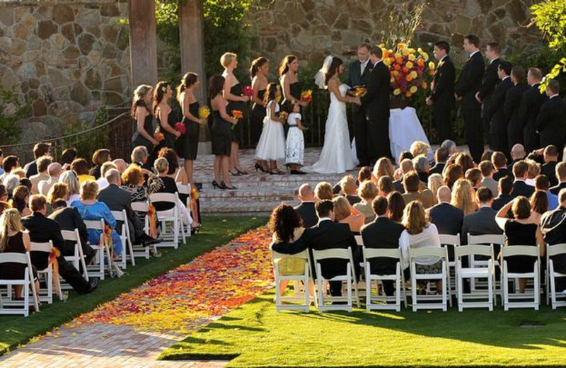 Outdoor wedding at Vintage Inn.