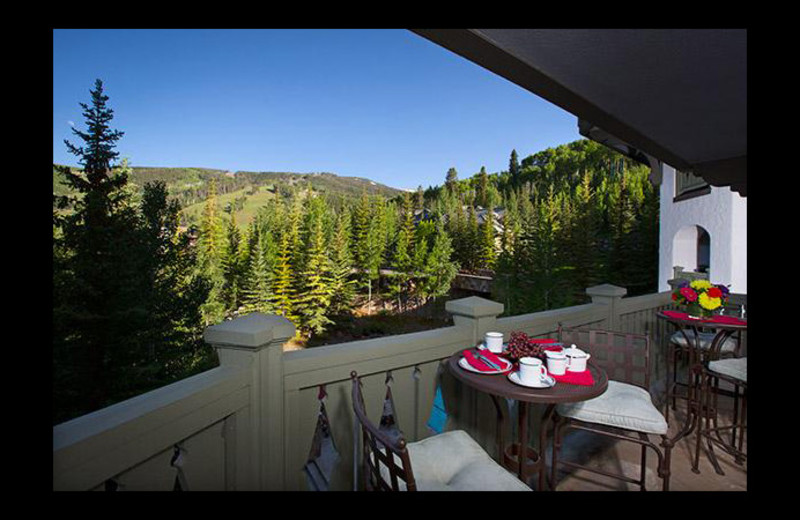 Guest balcony at Chateau Beaver Creek.