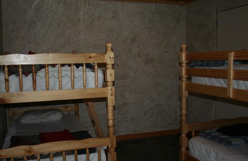 Bunk beds at Lake Mountain Cabins.