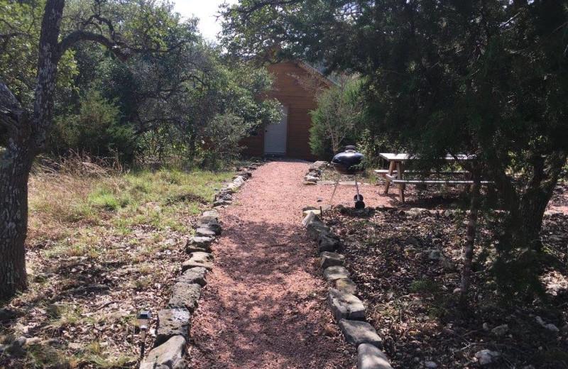 Cabin exterior at Walnut Canyon Cabins.