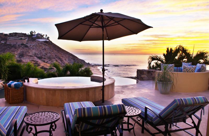Rental patio at Lifestyle Villas LLC.