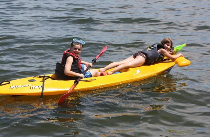 Kayaking at Barky's Resort.