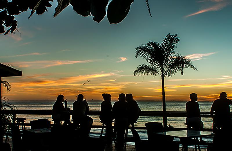 Sunset at Hotel Villa Confresi.