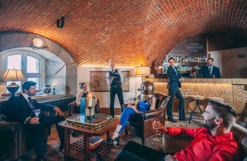 Castle bar at Luxury Castle Hire.
