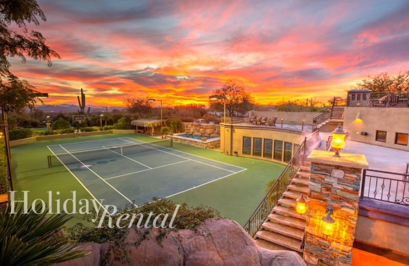 Rental tennis court at HolidayRental.com.