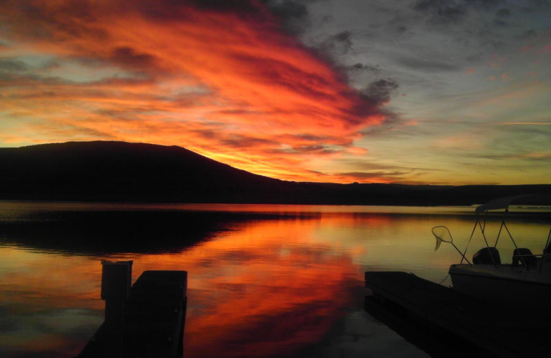 Sunset at Antelope Point.