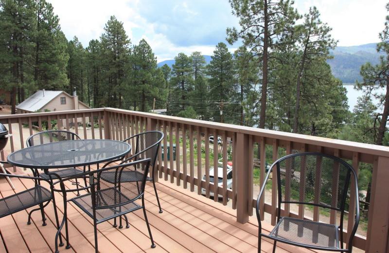 Cabin deck at Pine River Lodge.