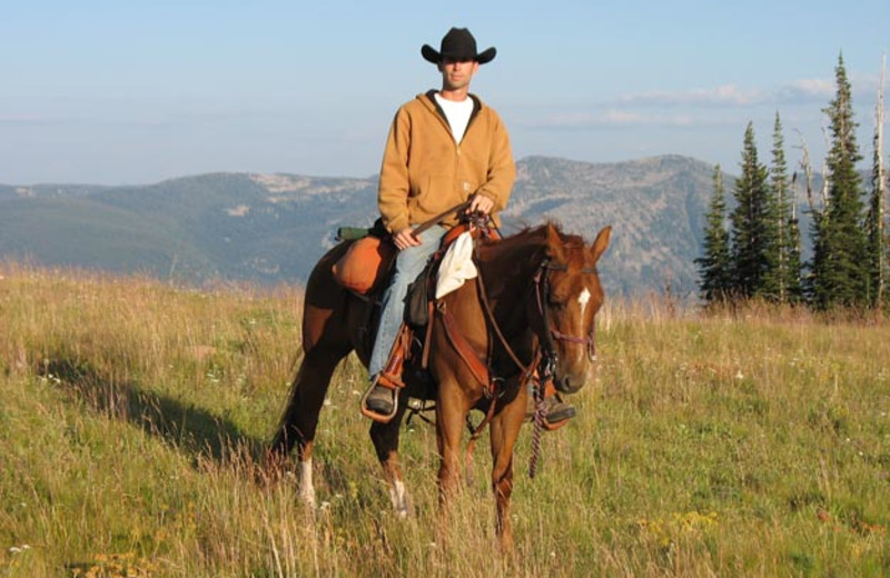 Horseback riding at Silver Spur Outfitters.